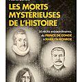 Les morts mystérieuses de l'histoire – ed eyrolles