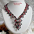 Collier ruby and black