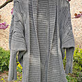 Tricot: gray dolman cardigan