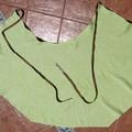 Jupe en lin vert à plat