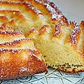 Gâteau au yaourt aux poires et gingembre