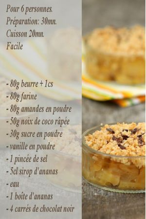 recette crumble ananas-coco