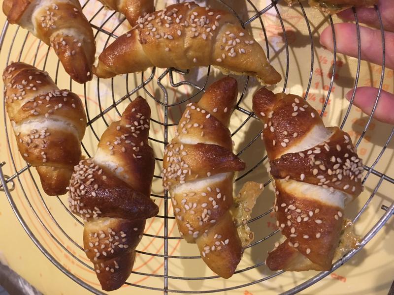 croissant bretzel cuits