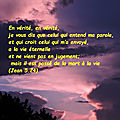 Jean 5:24 - versets d'or pur (8 - 43)