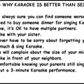 The top 10 reasons why karaoke is better then sex