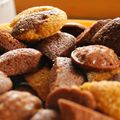 Variante sur les mini-quatre quarts, pomme-vanille et chocolat-épices