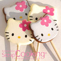 Sucettes en chocolat hello kitty