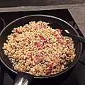 Riz aux épices et jambon cru