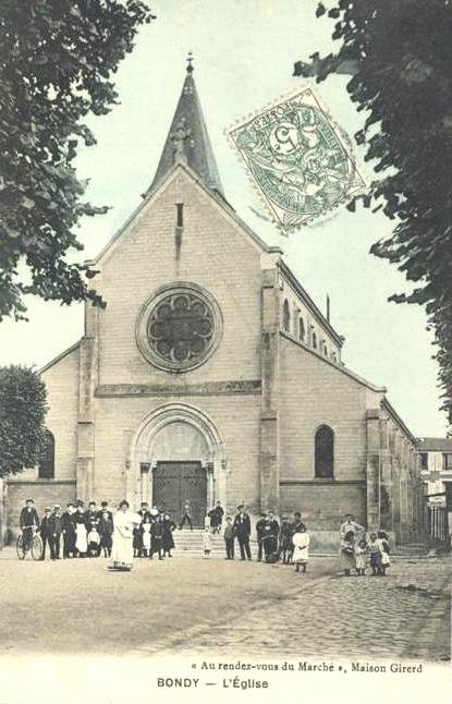 Bondy église cpa Maison Girerd (1)