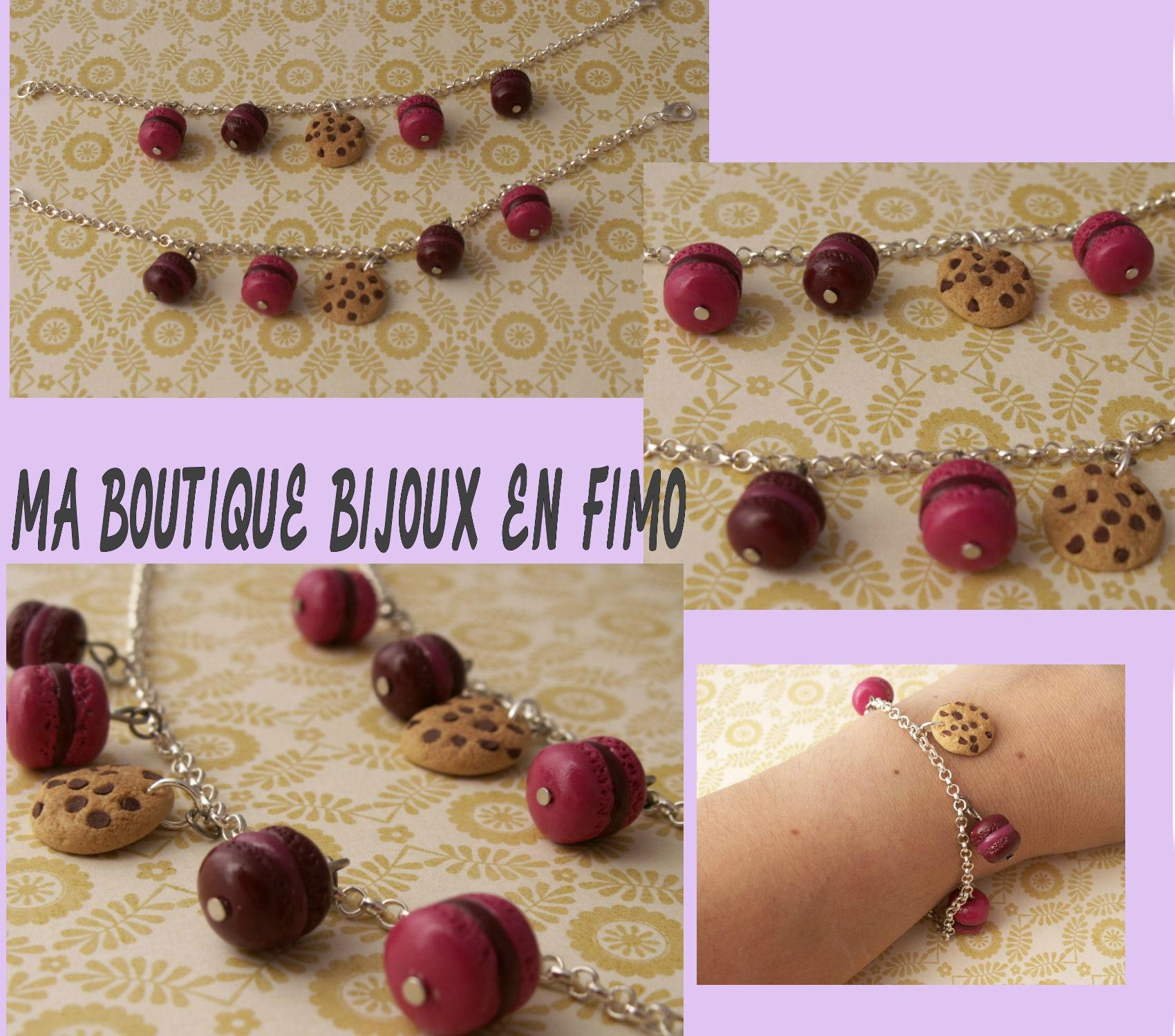 Bracelet chaine macarons cookie