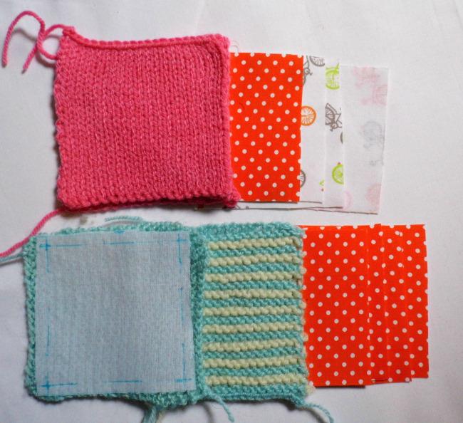 Cube tissu et tricot