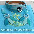 Bracelet Flèche turquoise et BO Eglantine assorties