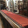 Un tapis de table hivernal