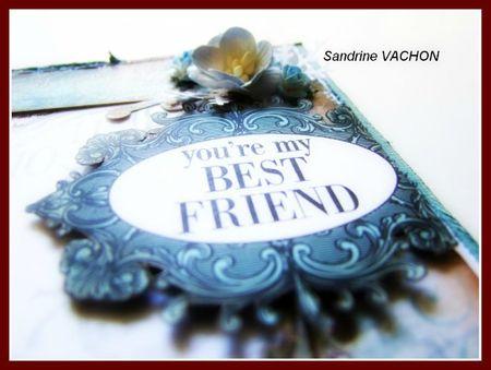 carte embossée V1 YOU'RE MY BEST FRIEND 6