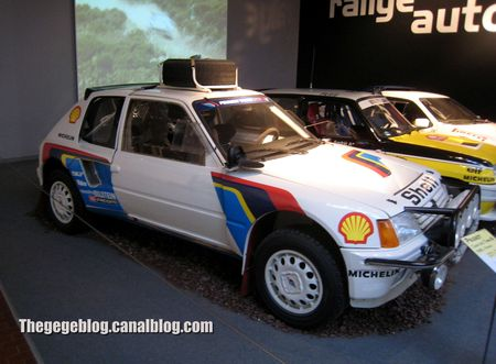 Peugeot 205 turbo 16 de 1985 (Cité de l'Automobile Collection Schlumpf à Mulhouse) 01