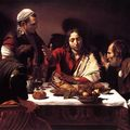 Caravaggio's, the supper at emmaus @ art institute of chicago