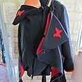 Manteau de portage 3 en 1 polaire double-face + doublure papillons