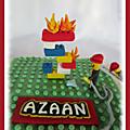 Gâteau légo pompier