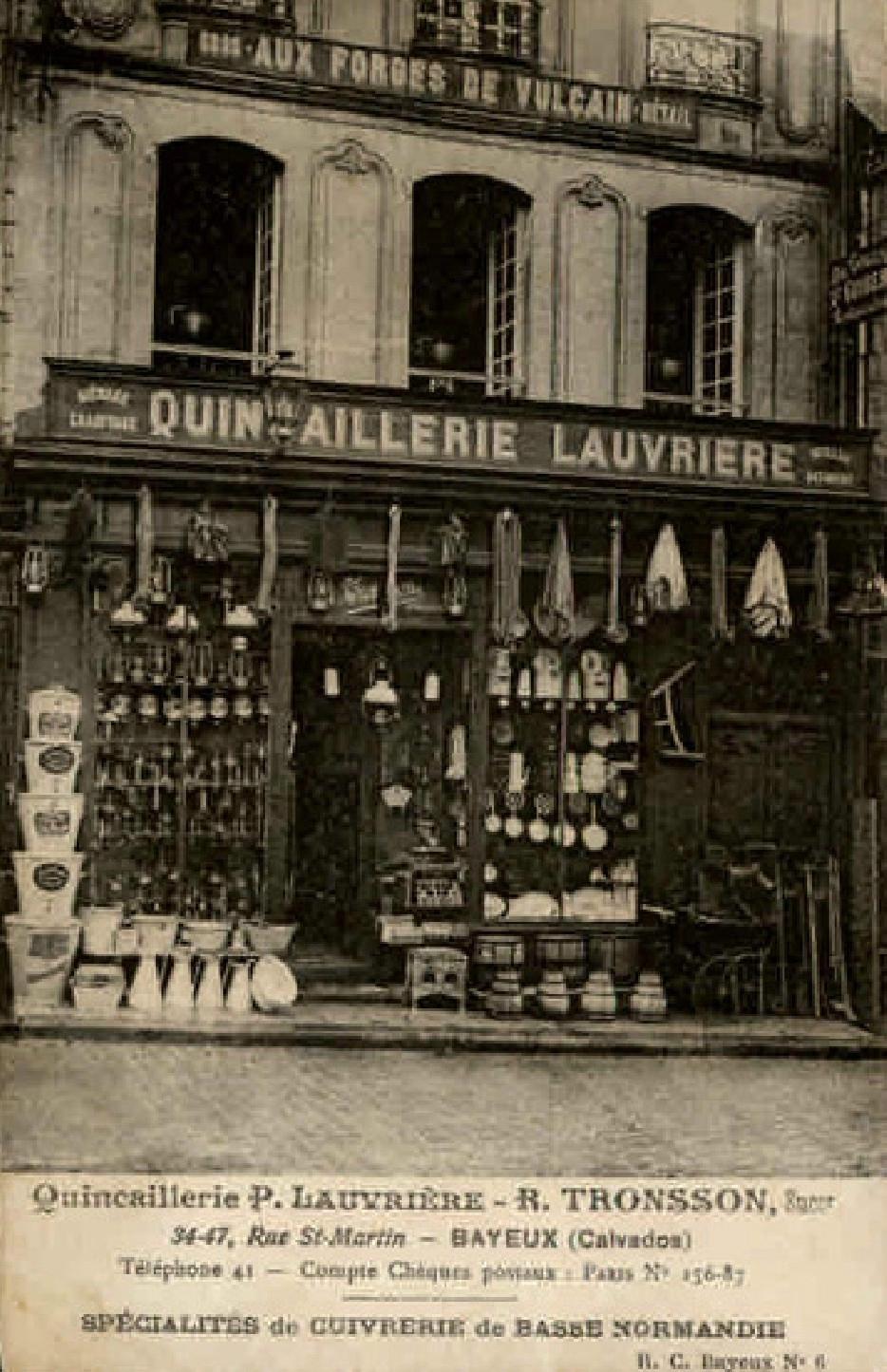 Bayeux, Quincaillerie Lauvrière, R