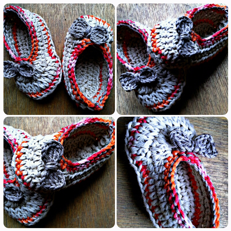 Chaussons ballerines au crochet 3-6 mois