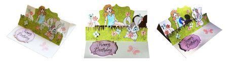 carte relevable happy birthday par lilou752