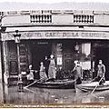 Inondation 1910 place du Palais Bourbon