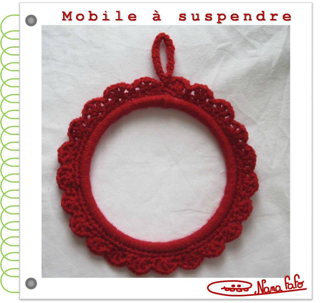 Mobile à suspendre crochet tuto