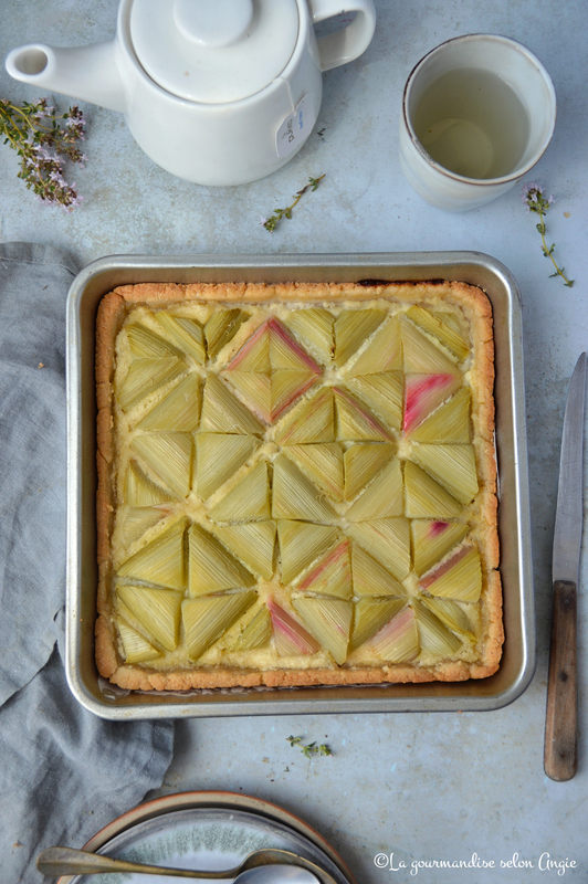 tarte graphique vegan rhubarbe amande
