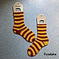 Tricot: des chaussettes harry potter gryffondor