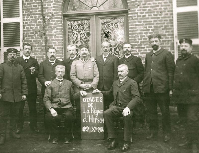 14-18 OTAGES REGION D'HIRSON 1914