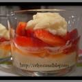 Verrines de fraises au mascarpone