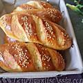 Petits pains de serviette briochés au fromage blanc