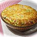 Quiche sans pâte, poireau-jambon-gruyère