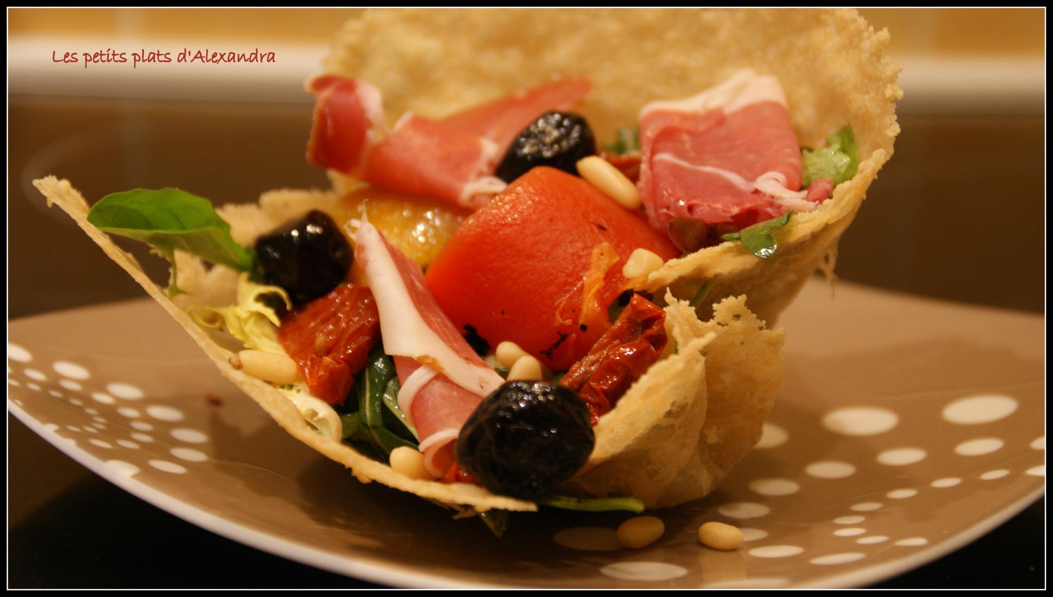 Des Entrées Originales salade aux saveurs italiennes - visuel très original qui fait son