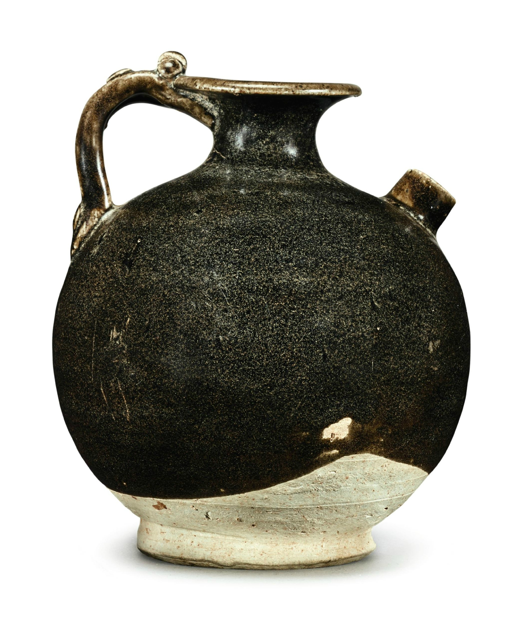 A small brown-glazed ewer, Tang Dynasty-Five Dynasties