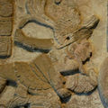 """The millenary maya stela """"divine lords of tonina creating the universe"""" complete again"""