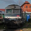 BB 67517 bleue, dépôt de Strasbourg