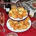 Pâte à choux garnis de rillettes de langoustine