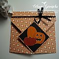 Carte origami diamond fold halloween