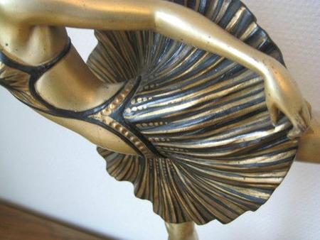 art deco statuette danseuse annees 30