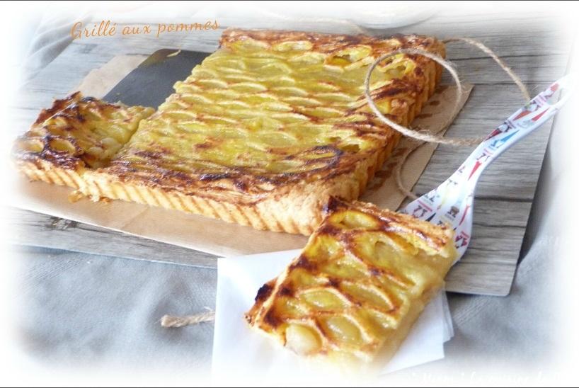 """ღ """" Miam """" Grillé aux pommes ( version Flemmarde )"""