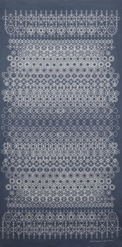 sarong istanbul bleu et blanc