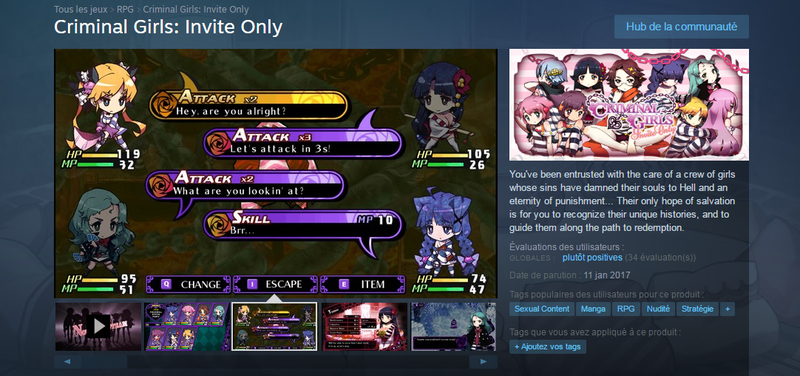 Criminal Girls Steam
