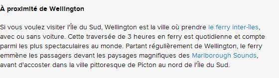 WELLINGTON - HISTOIRE 5
