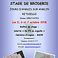 Second stage de broderie - octobre 2018