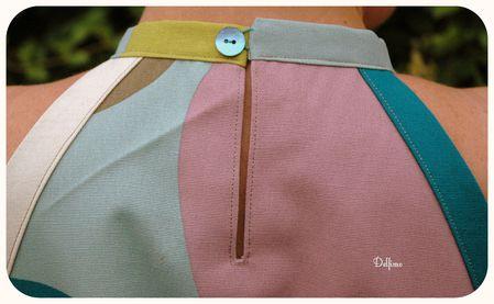 Robe 4C burda couture facile dos détail fente