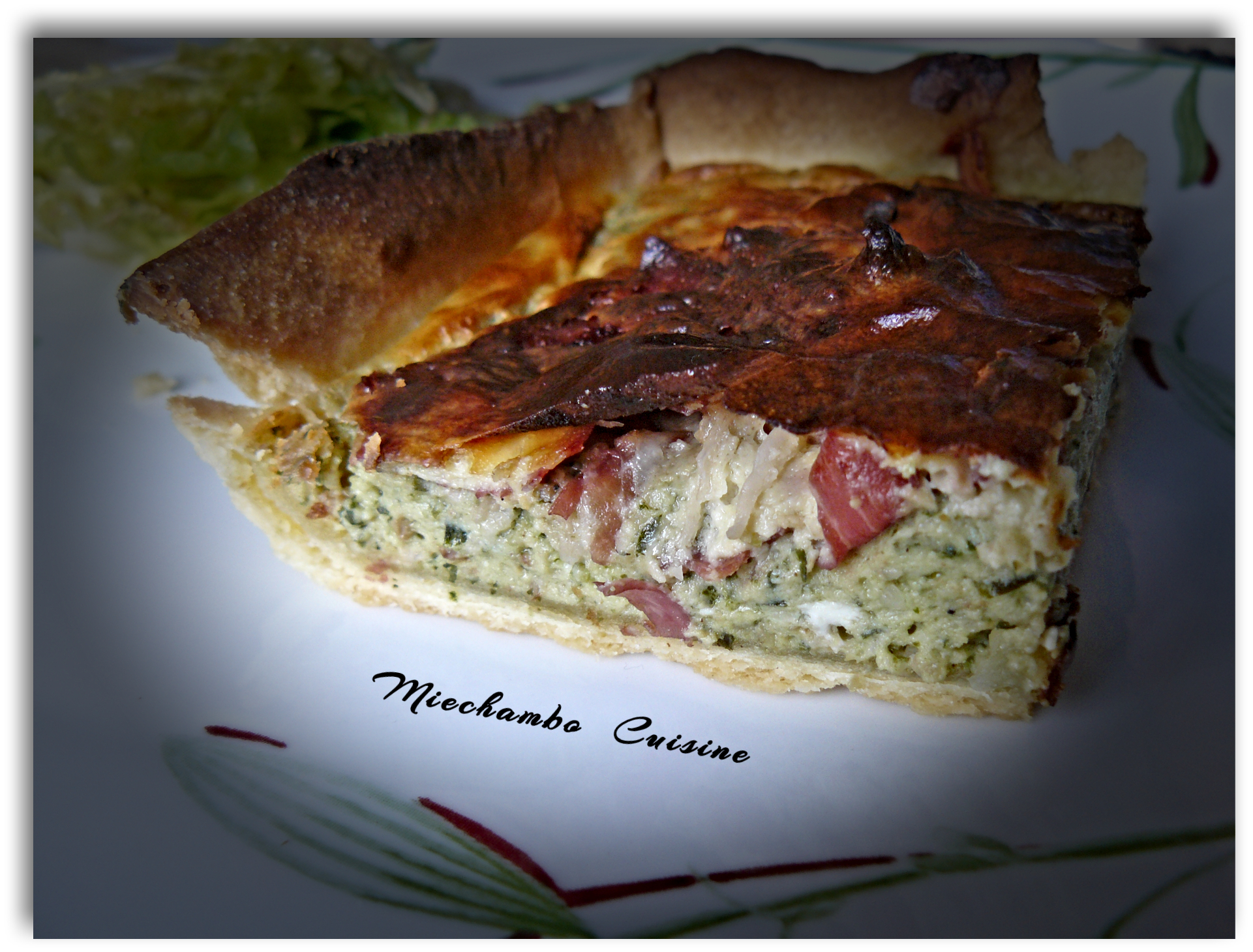 Tarte au pesto mixte et pancetta