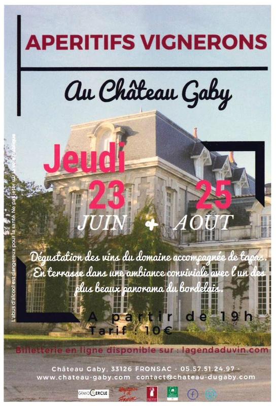apéritifs vignerons Château Gaby Fronsac