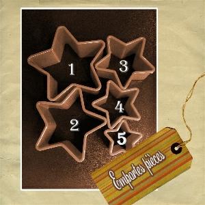 Emportes pièces étoiles avec numéro (SCrap°