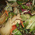 Salade composee aux asperges vertes, bolet et fenouil